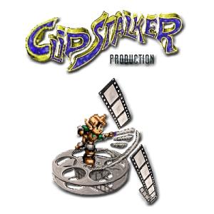 ClipStalker production logo sfondo bianco
